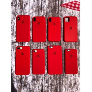 Fire Brick Red Silicon Case For iPhone
