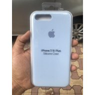 Light Steel Blue Silicon Case For iPhone