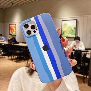 Pride Edition Blue Rainbow Silicon Case For iPhone