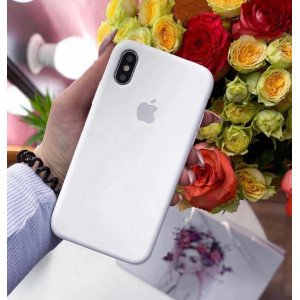 Pure White Silicon Case For iPhone