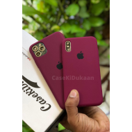 Wine Red Silicon Case For iPhone