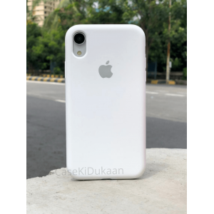 White Silicon Case For iPhone