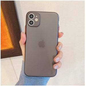 Smoke Black Transparent Ultra Thin Case For iPhone