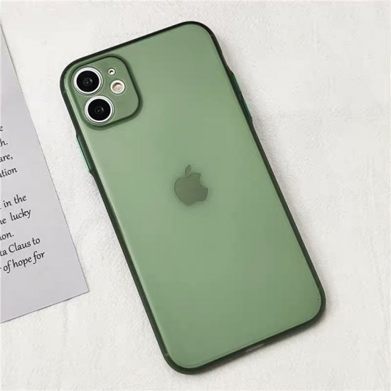 Bottle Green Transparent Ultra Thin Case For iPhone