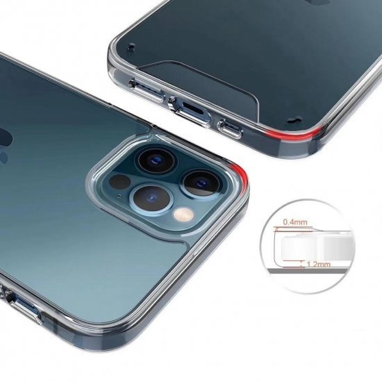 Hybrid Transparent Shockproof Case : Drop Protection With Smooth Button Technology