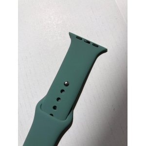 Midnight Green iWatch Silicone Strap Compatible with Watch Series 5/4/3/2/1