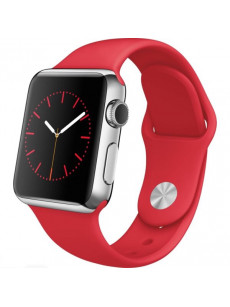 Fire Brick Red iWatch Silicone Strap Compatible with Watch Series 4/3/2/1