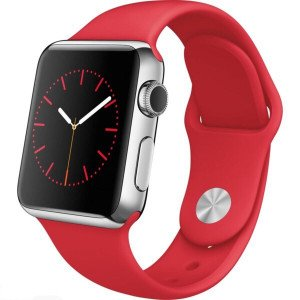 Fire Brick Red iWatch Silicone Strap Compatible with Watch Series Se/6/5/4/3/2/1