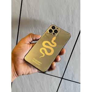 Snake Design Iphone Luxurious Golden Skin